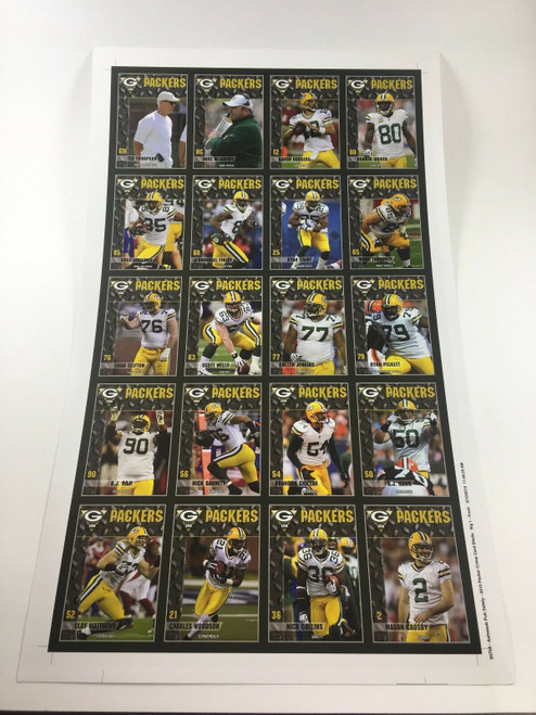 2010 Green Bay Packers Police Uncut Sheet
