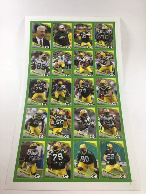 2009 Green Bay Packers Police Uncut Sheet