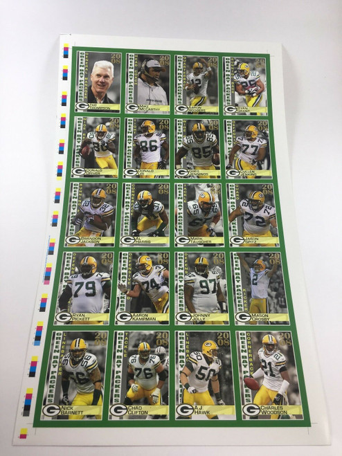 2008 Green Bay Packers Police Uncut Sheet