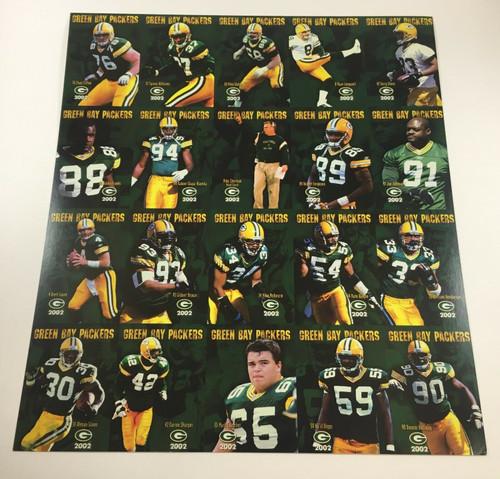 2002 Green Bay Packers Police Uncut Sheet