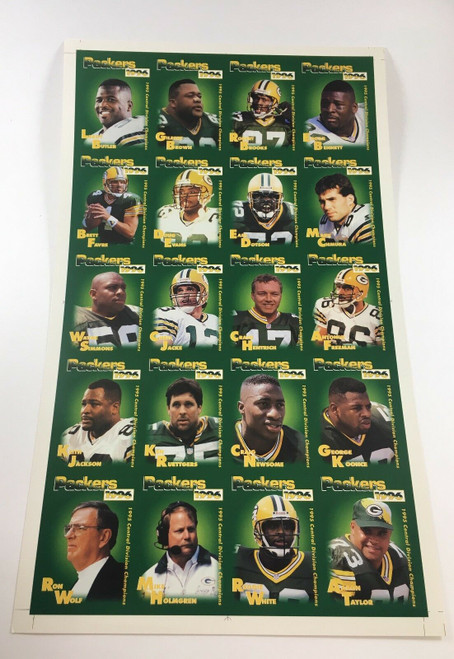 1996 Green Bay Packers Police Uncut Sheet