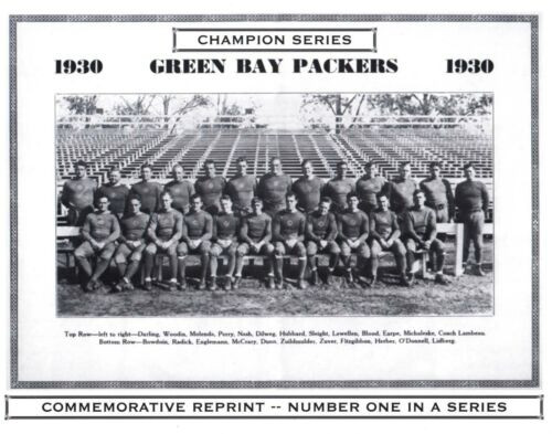 1930 Green Bay Packers Champion Series Commemorative Photo