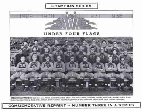 1936 Green Bay Packers Champion Series Commemorative Photo