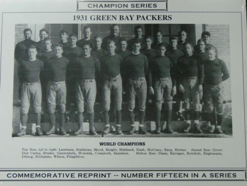 1931 Green Bay Packers Champion Series Commemorative Photo