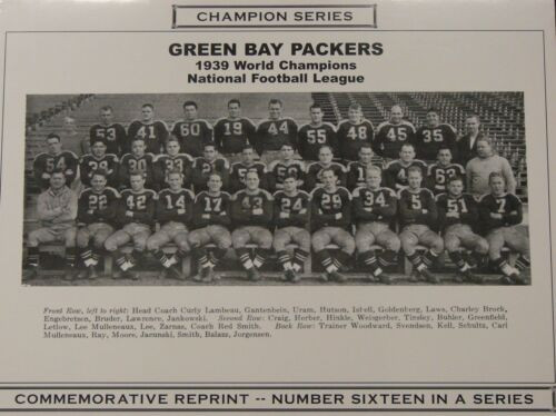 1939 Green Bay Packers Champion Series Commemorative Photo