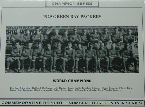 1929 Green Bay Packers Champion Series Commemorative Photo