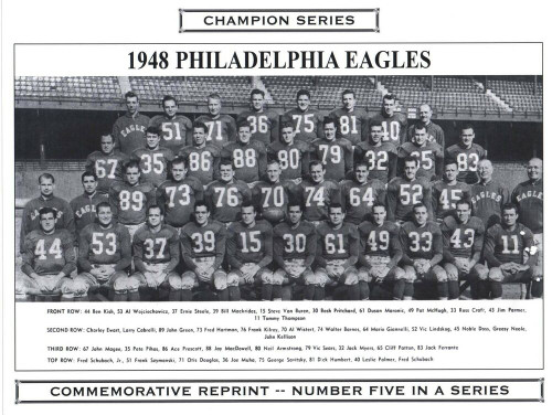 1948 Philadelphia Eagles Champion Series Commemorative Photo