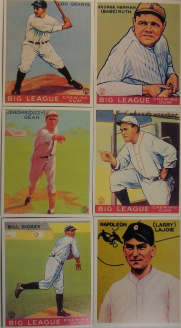 1933 Goudey Hall of Fame Reprint Set