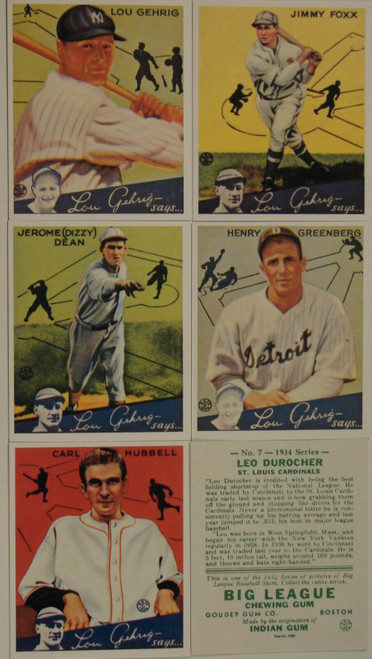 1934 Goudey Reprint Set
