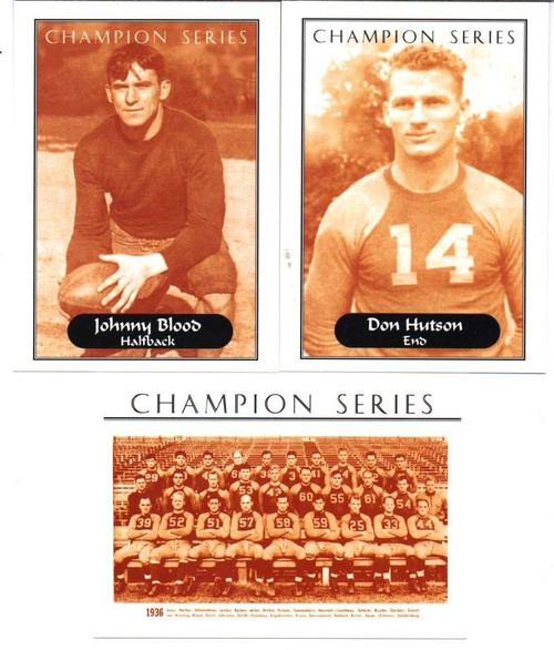 1936 Champion Series Green Bay Packers