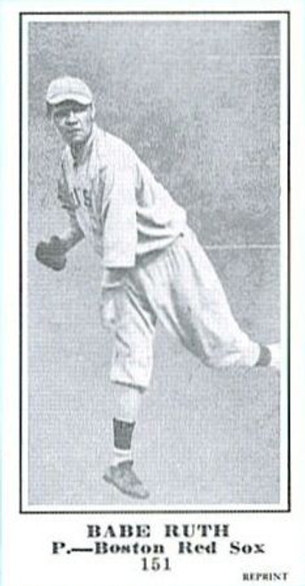 1915 M101-5 The Sporting News Reprint Babe Ruth Single