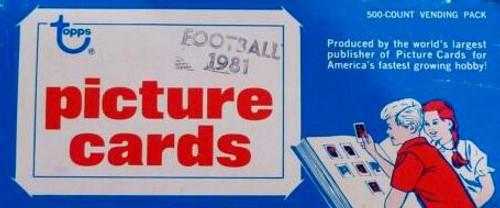 1981 Topps Football Vending Box