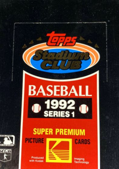 1992 Topps Stadium Club Series #1 Box