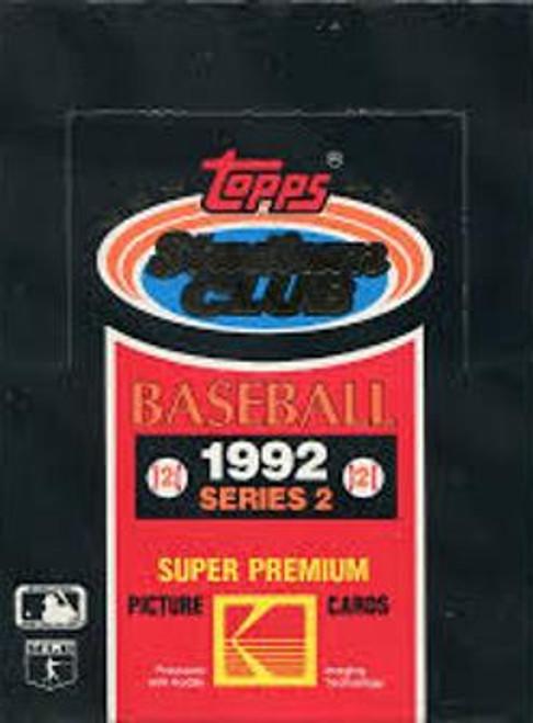 1992 Topps Stadium Club Series #2 Box