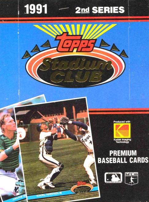 1991 Topps Stadium Club Series #2 Box