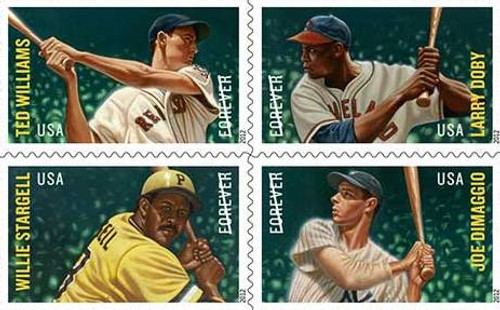 MLB All-Stars All Four Stars Stamp Set