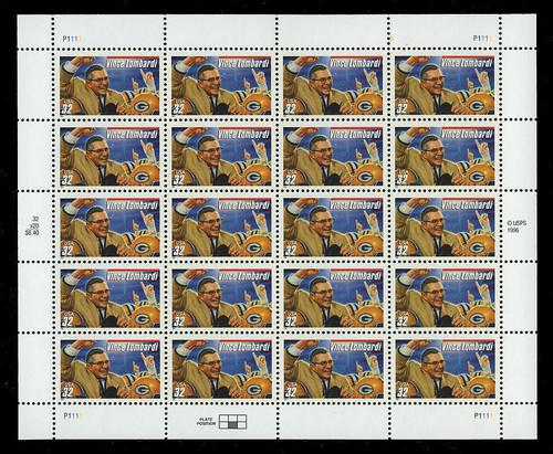 Vince Lombardi U.S. Postage Stamp