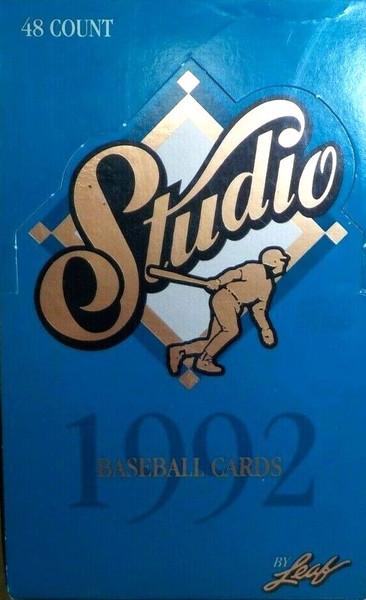 1992 Leaf Studio Baseball Unopened Box
