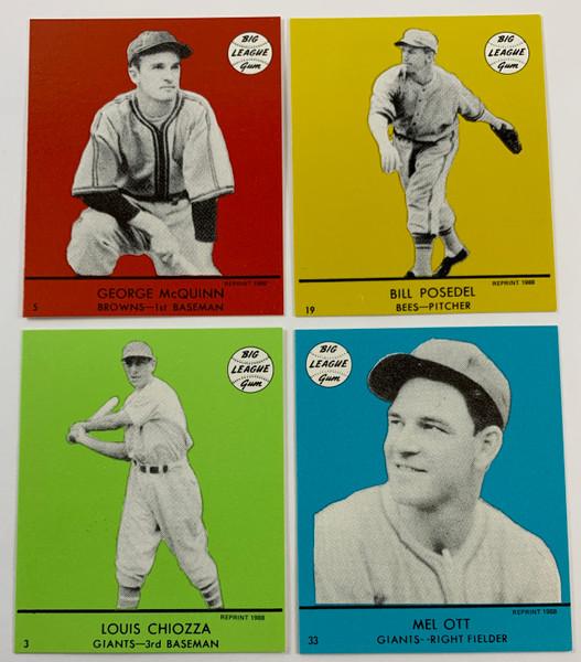 1941 Goudey Reprint All Color Sets