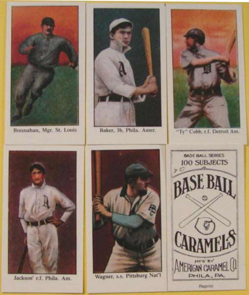 1909-11 E90-1 American Caramel Hall of Fame Reprint Set