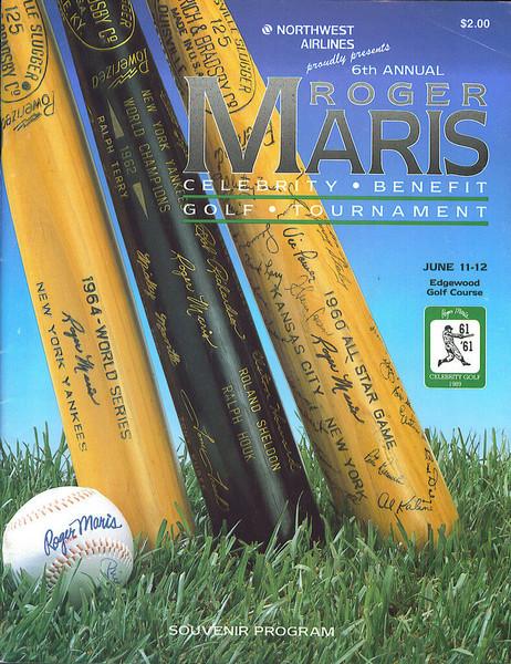1989 Roger Maris Celebrity Golf Tournament Program