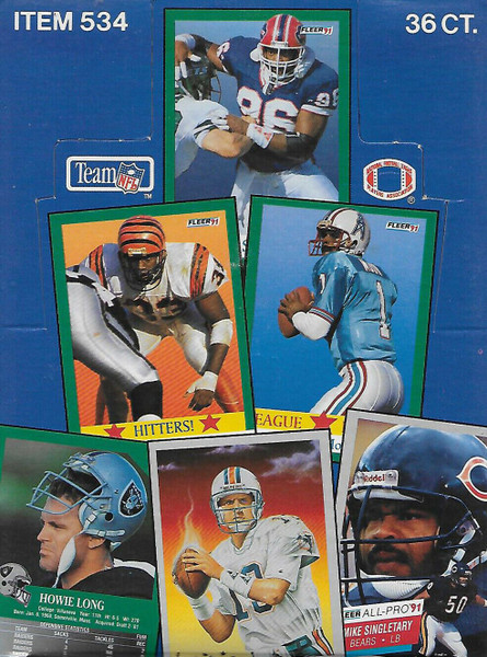1991 Fleer Football Unopened Box