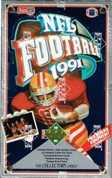 1991 Upper Deck Football Unopened Foil Box