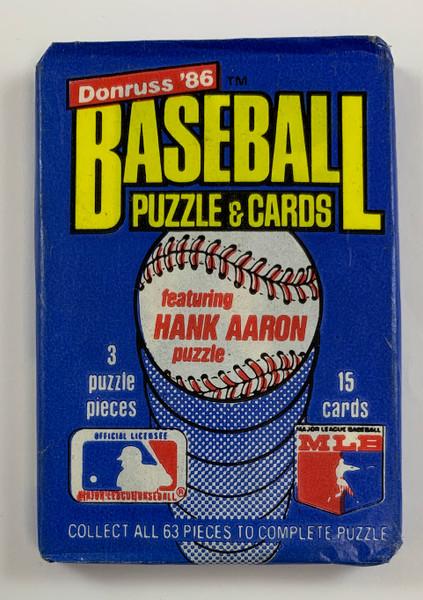 1986 Donruss Wax Pack