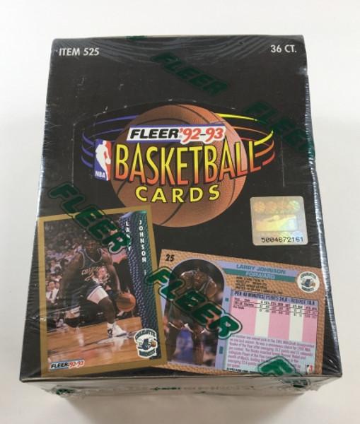 1992-93 Fleer Basketball Series #1 Wax Box