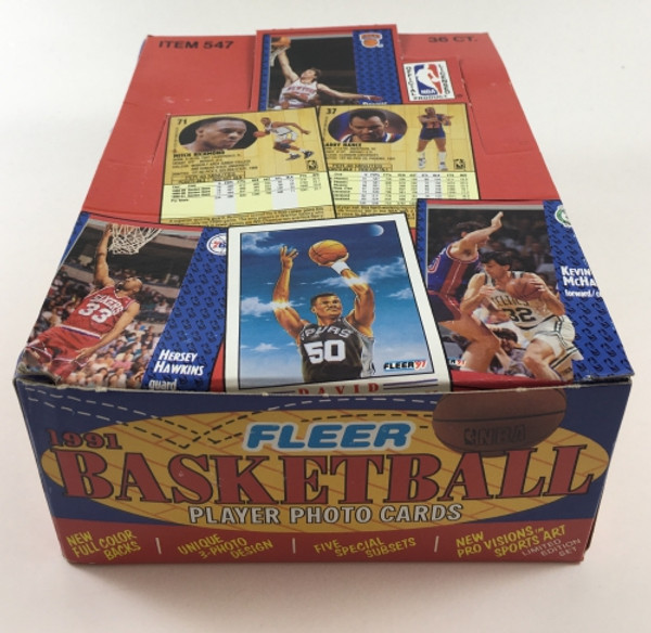 1991-92 Fleer Basketball Series #1 Wax Box