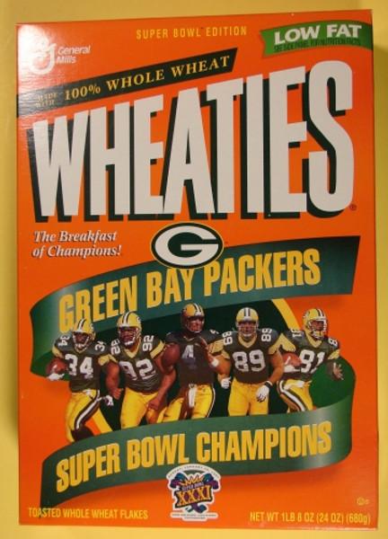 Green Bay Packers Super Bowl XXXI Wheaties Box