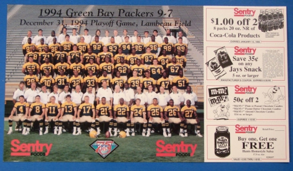 1994 Green Bay Packers Team Photo