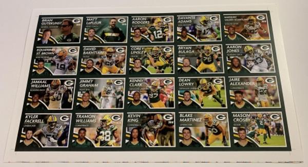 2019 Green Bay Packers Police Uncut Sheet