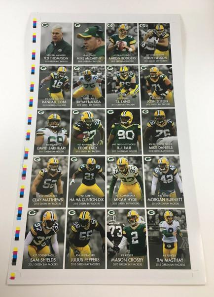 2015 Green Bay Packers Police Uncut Sheet