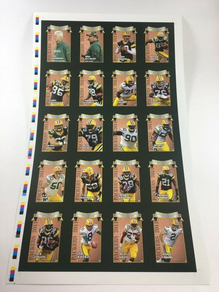 2011 Green Bay Packers Police Uncut Sheet