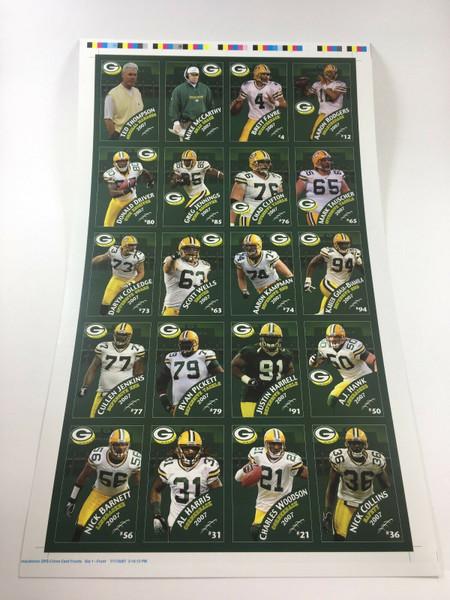 2007 Green Bay Packers Police Uncut Sheet