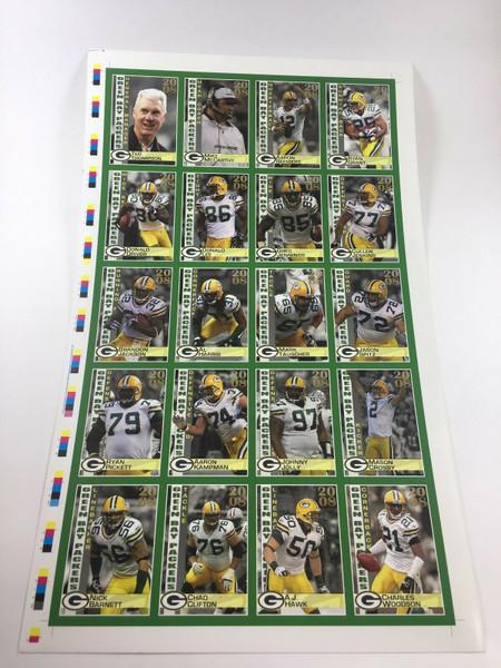 2008 Green Bay Packers Police Uncut Sheet