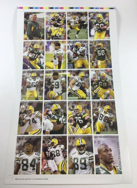 2004 Green Bay Packers Police Uncut Sheet