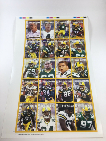 2003 Green Bay Packers Police Uncut Sheet