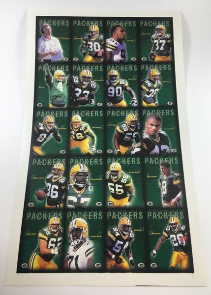 2001 Green Bay Packers Police Uncut Sheet