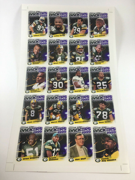 1999 Green Bay Packers Police Uncut Sheet