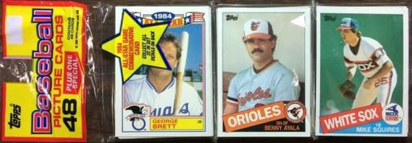 1985 Topps Baseball Rack Pack