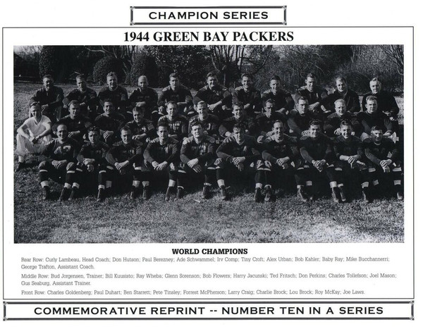 1944 Green Bay Packers Champion Series Commemorative Photo