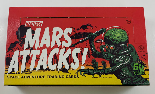 2012 Topps Mars Attacks Heritage Empty Boxes with Wrappers