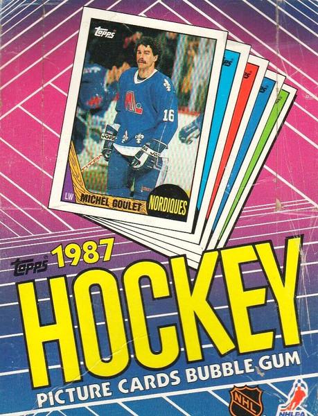 1987 Topps Hockey Wax Box
