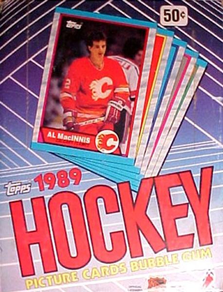 1989 Topps Hockey Wax Box