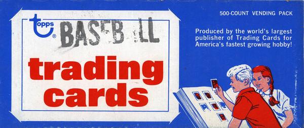 1984 Topps Baseball Vending Box