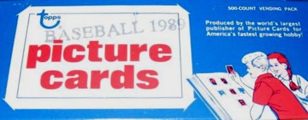 1989 Topps Baseball Vending Box