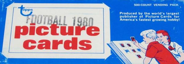 1980 Topps Football Vending Box