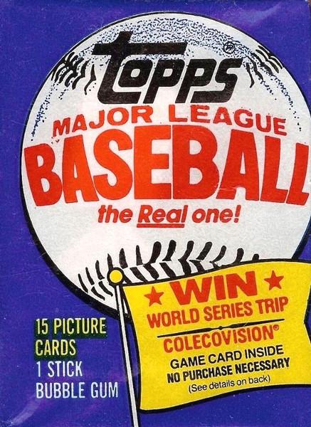 1983 Topps Baseball Wax Pack